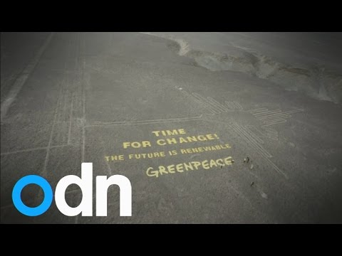 Greenpeace Nazca Lines stunt slammed by Peruvian government