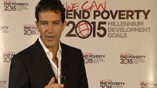 United nations, new york, 21 july - as a goodwill ambassador for the nations development programme, antonio banderas is raising awareness mill...