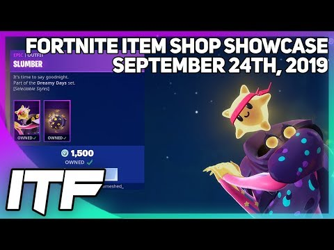 Fortnite Item Shop *NEW* SLUMBER SET + OKTOBERFEST! [September 24th, 2019] (Fortnite Battle Royale)