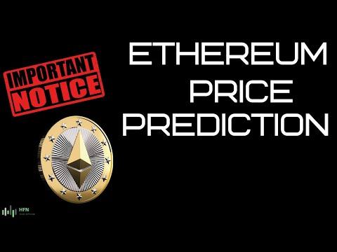 ETHEREUM (ETH) PRICE PREDICTION - IMPORTANT NOTICE