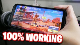 LEGIT Fortnite ANDROID Gameplay -NOT CLICKBAIT