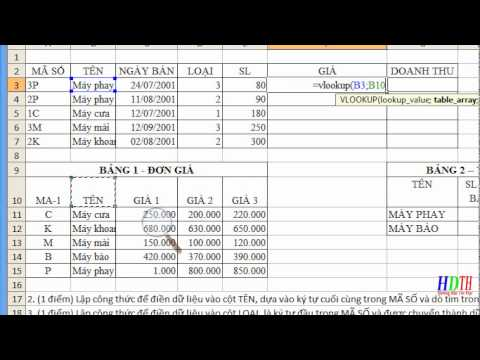 [Video hướng dẫn] sử dụng hàm Vlookup nâng cao trong Excel phần 3
