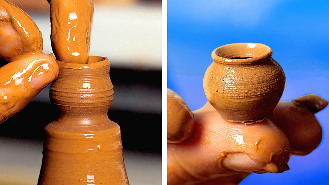 Relaxing Pottery: Making Clay And Ceramic Crafts - YouTube