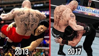 The Evolution Of Roman Reigns Spear! ( WWE 2K14 To WWE 2K18 )