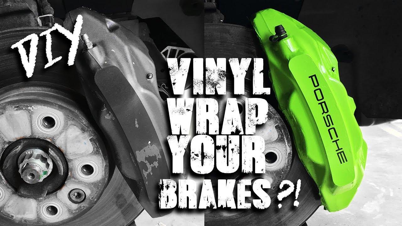 Vinyl Wrap Your Brake Calipers Diy Tutorial Youtube