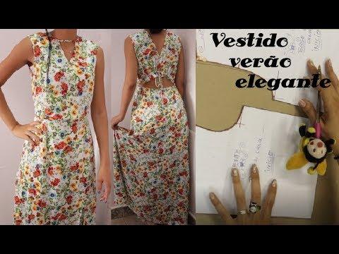 20f1138a0 VESTIDO EVASÊ VERÃO MODELAGEM  Luciete Vasconcelos Atelier - YouTube