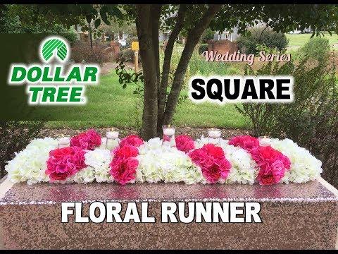 DIY Dollartree Square Floral Runner - Wedding Series