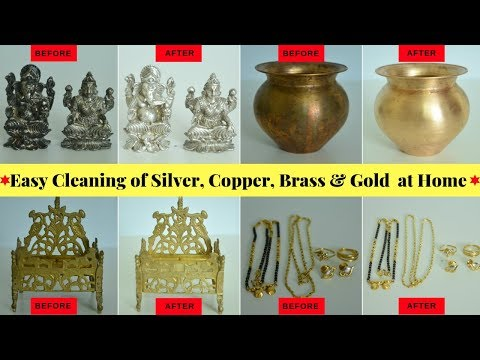 How to Clean Silver, Copper, Brass & Gold Easily at Home | Silver Pooja Items Cleaning | Urban Rasoi
