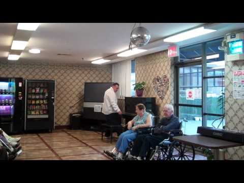Piano Mike from Lifestyles for the Disabled, Staten Island, NY performs for our residents.