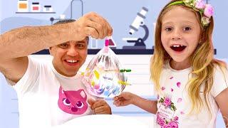 Nastya está aprendendo como se tornar um cientista! Experimentos científicos para crianças