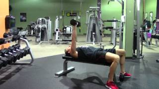 One Arm Dumbbell Bench Press - Hasfit Chest Exercise Demonstration - Dumbbell Chest Press