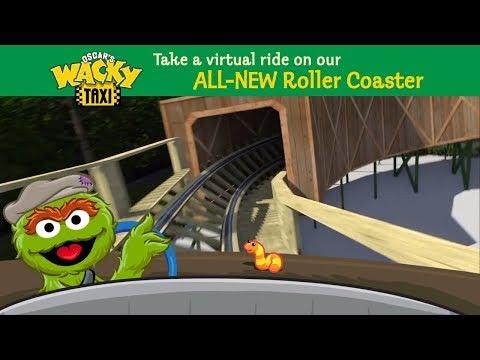Oscar's Wacky Taxi Wooden Roller Coaster POV Sesame Place NEW in 2018
