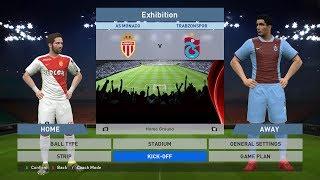 AS Monaco FC vs Trabzonspor, Stade Louis II., PC GAMEPLAY, PCGAMEPLAY, PES 2016, Konami