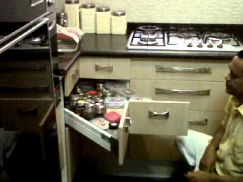 Modular kitchen compact but fully functional youtube for Modular kitchen designs youtube