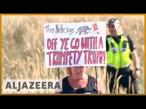 🇺🇸 🇬🇧 Trump in the UK: Thousands protest for second day | Al Jazeera English