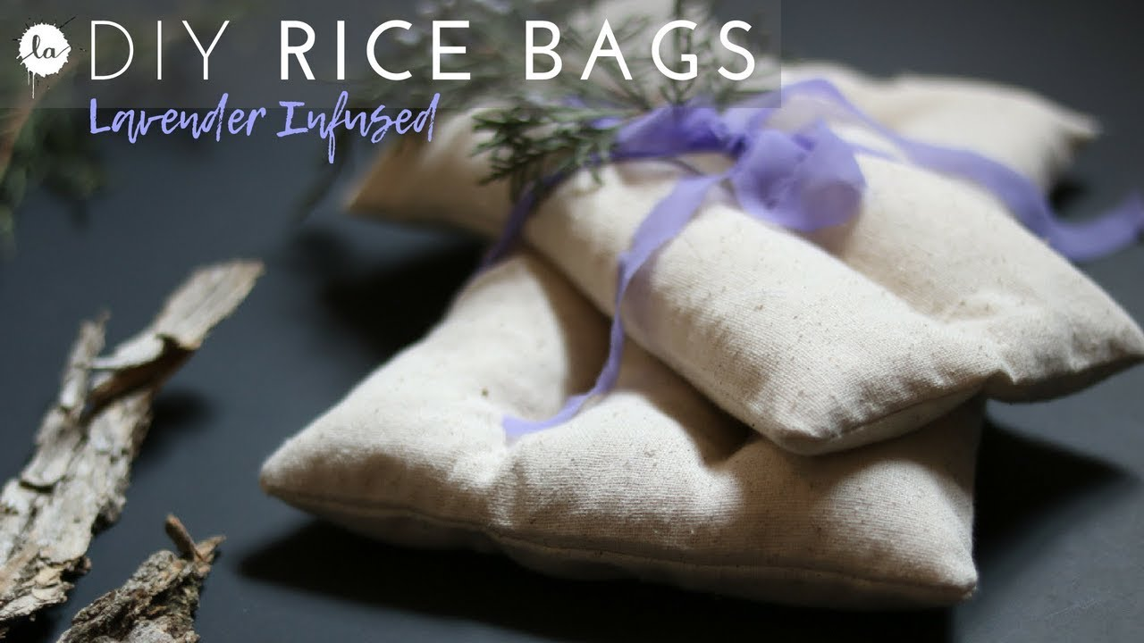 Lavender Infused Diy Rice Bag Heat Therapy Or Ice Pack Youtube