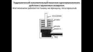 Гидравлические исполнительные механизмы,Консбаева А.