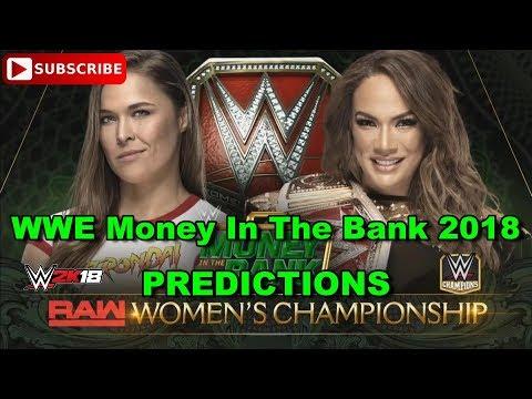 WWE Money In The Bank 2018 Raw Women's Championship Nia Jax vs  Ronda Rousey Predictions WWE 2K18
