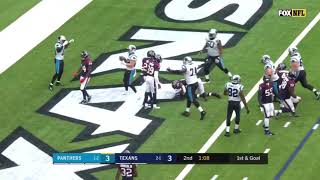 Christian McCaffery rushes for touchdown Panthers Vs Texans Resimi