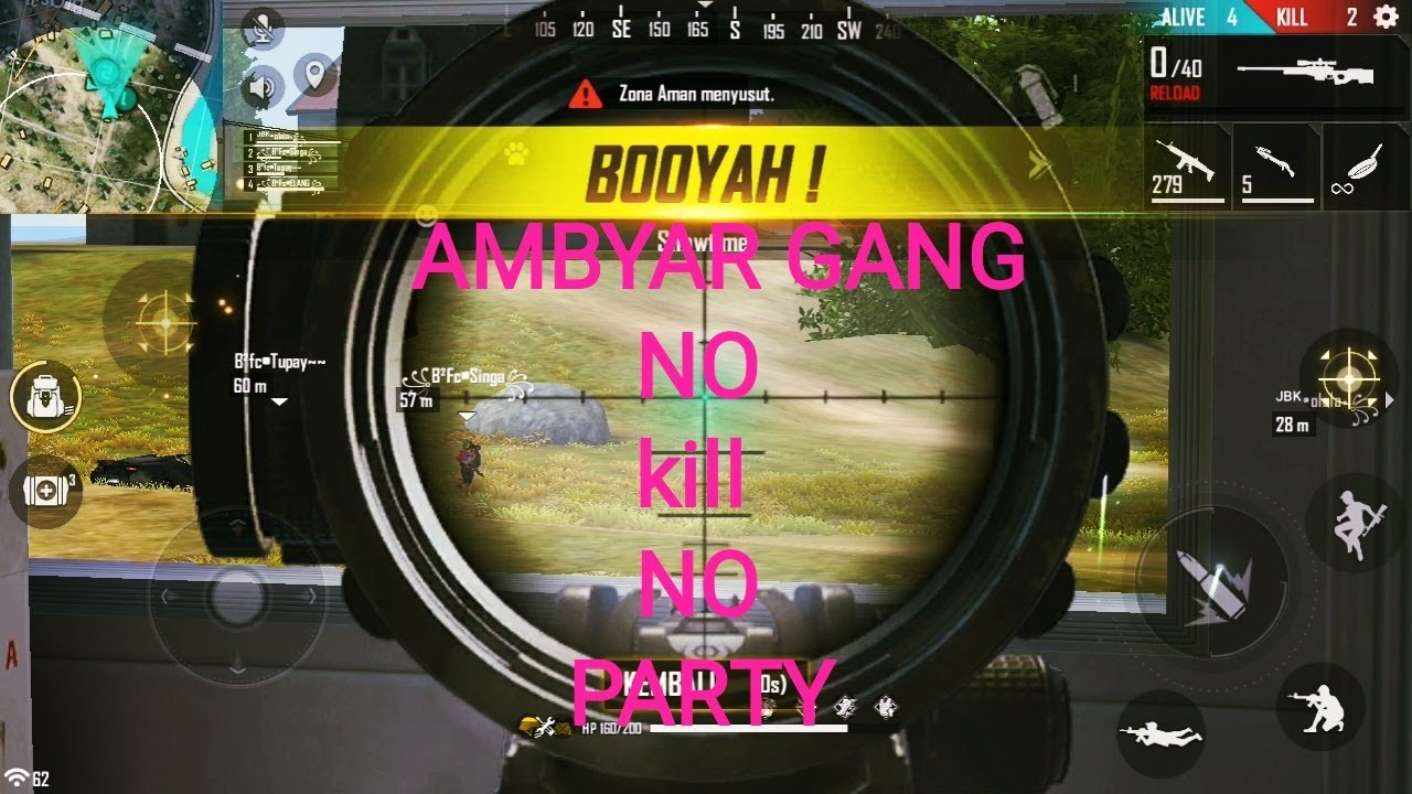 Main Bareng Squard Ambyar No Kill No Party Elang Gaming Youtube