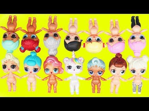 Custom LOL Surprise Dolls Play Dress Up with Unicorn