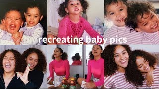 RECREATING OUR ICONIC BABY PICS | SO FUNNY !! | Montes Twins |