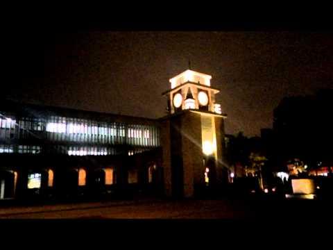 Taipei nights- Taipei Medical University campus with coming rain and thunderstorm