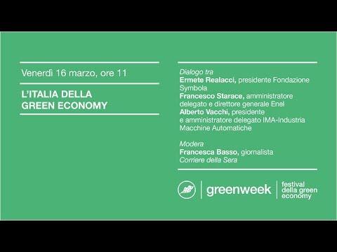 greenweek 2018 | L'ITALIA DELLA GREEN ECONOMY