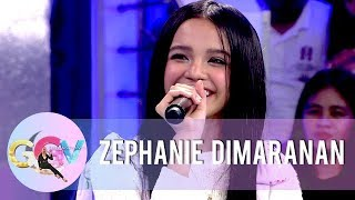 Zephanie talks about her eargerness to become a versatile artist like Sarah G | GGV