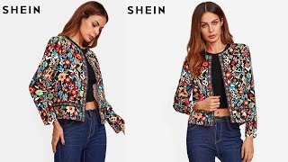 SHEIN Women;s Multicolor Jacket Review | Best Jackets For Women Fashion 2018