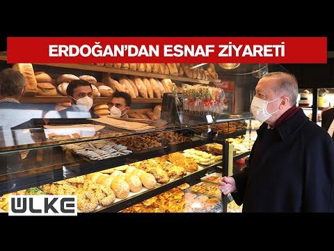 Cumhurbaşkanı Erdoğan, Bir Ekmek Fırınından Alışveriş Yaptı