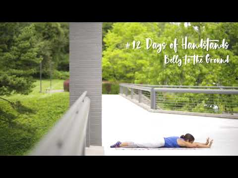 Belly to the Ground Drill | YogaSlackers 12 Days of Handstands