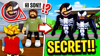 My Parents were SECRETLY the VENOM family in Roblox BROOKHAVEN RP!!