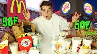 50€ bei McDonalds VS 50€ bei BurgerKing! 🍔 (Was ist günstiger?)