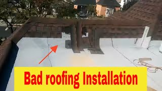 Bad roofing installation : Two  years old roof falling apart !!