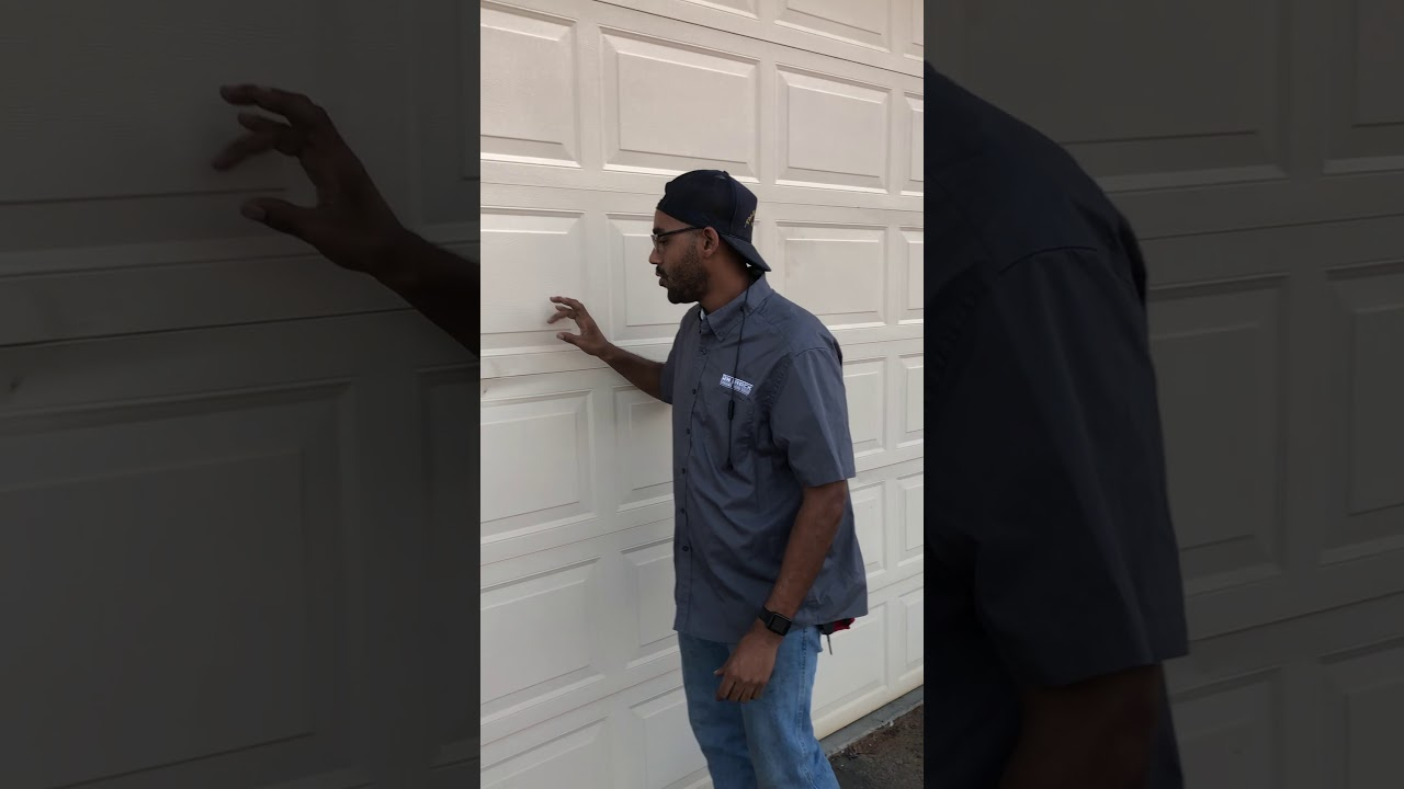 Dented Garage Door Repair Can You Fix Cosmetic Dents Youtube