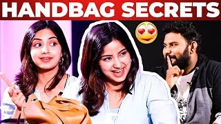Actress Kashmira Pardeshi Handbag Secrets Revealed by Vj Ashiq | What's Inside the Handbag?