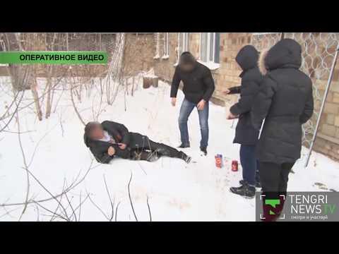 Полицейские сняли на видео инсценировку заказного убийства в Караганде