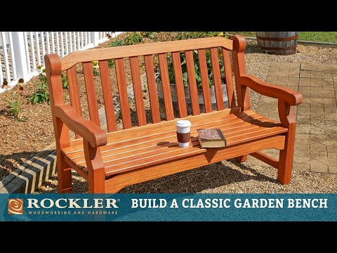 English Garden Bench - Complete Project Build