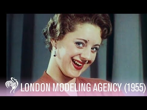 A Look Inside London Modeling Agency (1955) | Vintage Fashions