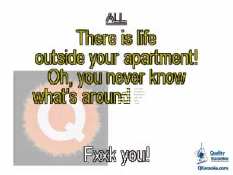 Avenue Q - There is Life Outside Your Apartment (Karaoke Instrumental) w/ Lyrics