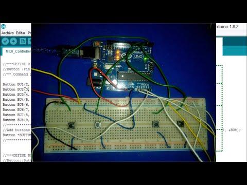 (ARDUINO UNO) CONTROLADOR básico MIDI USB (HairlessMidi-LoopMidi) para VIRTUAL DJ