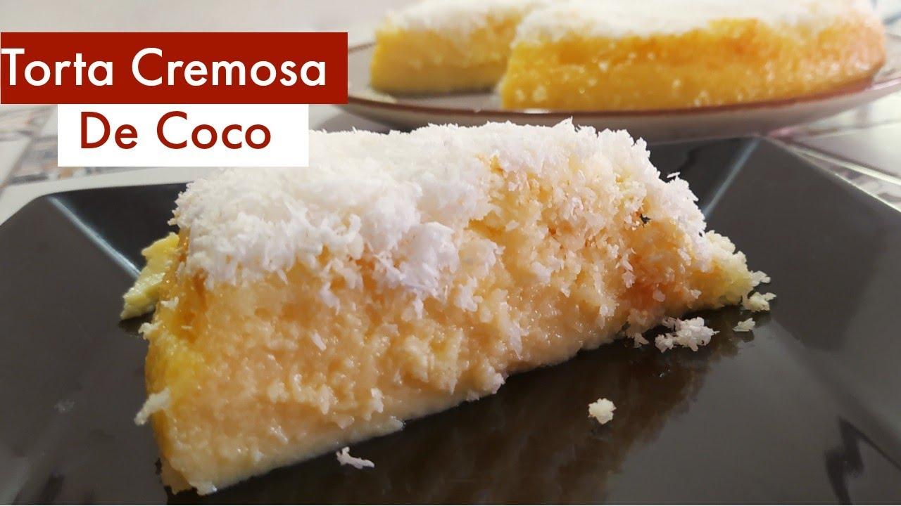 Torta Cremosa de Coco - Docinho do Céu