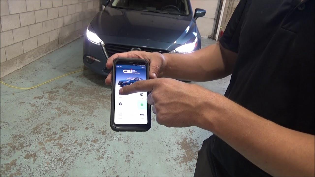 Mazda Remote Start >> Mystart Smarthphone App For Remote Starters Mazda 3 2017 Youtube