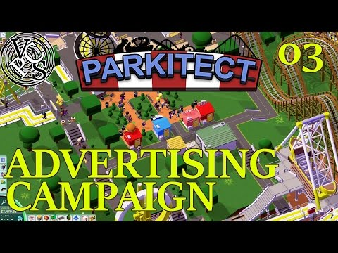 Advertising Campaign : Parkitect EP03 – Theme Park Simulator – Alpha 13 Gameplay and Commentary