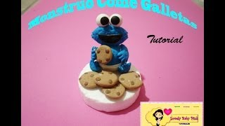Come Galletas Tutorial Facil / Cookie Monster Cold Porcelain Easy Tutorial