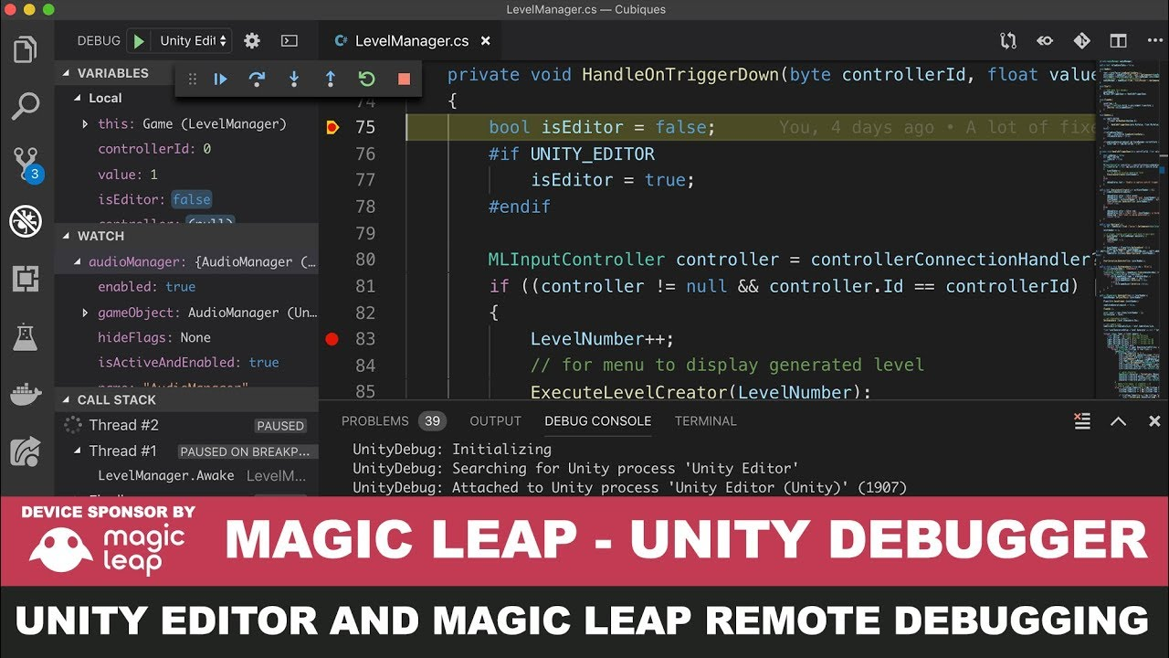 Magic Leap Development - Unity3d Debugger with editor input events and  Magic Leap Remote Events