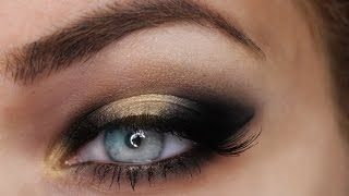 black gold smokey eye tutorial    roxxsaurus