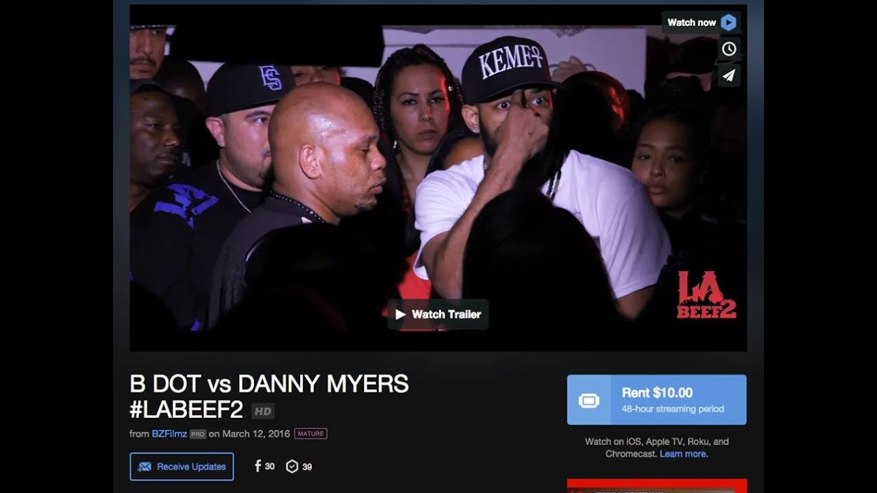 Danny Myers vs B Dot / LABeef 2/ LABattleGroundz/ LABG