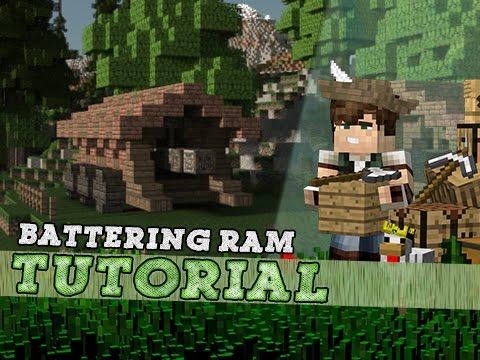 Minecraft Tutorial: Medieval Battering Ram!
